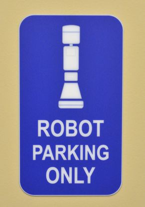 Dr. Robot's Parking Spot in ER