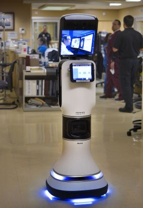 Dr. Robot on the way to patient's ER room