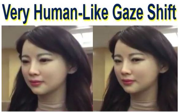 Robot Very-human-like-gaze-shift
